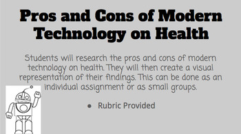 Pros and Cons of Modern Technology on Health