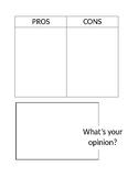 Pros versus Cons Graphic Organizer