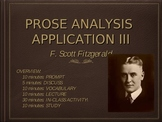 """Prose Analysis Application: Fitzgerald and """"Babylon Revisited"""""""