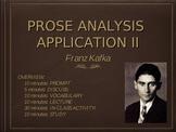 "Prose Analysis Application: Kafka and ""A Hunger Artist"""