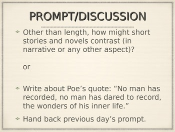 "Prose Analysis Application: Poe and ""The Tell-Tale Heart"""