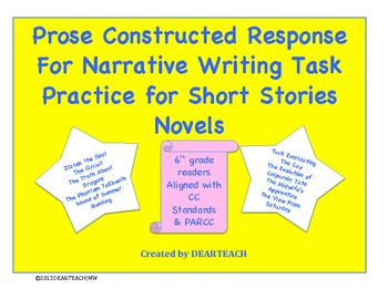 Prose Constructed Response For Narrative Writing Task Prompts [CCStand.]