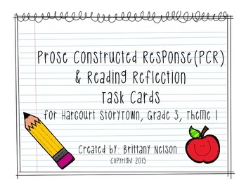 Prose Constructed Response (PCR) Task Cards, 3rd Grade Sto
