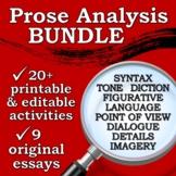 Close Reading BUNDLE - AP Literature Prose Analysis / High School Lit. Devices