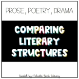Prose, Poetry, and Drama - Comparing Literary Structures (