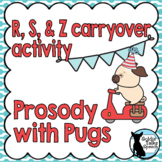 Prosody Bundle | R, S, & Z | Carryover Activity | Speech and Language Therapy