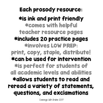 Fluency and Prosody Practice Year Long Bundle