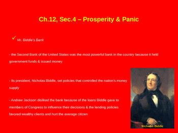 Prosperity & Panic - Biddle's Bank, Panic of 1837, Inflation, Van Buren