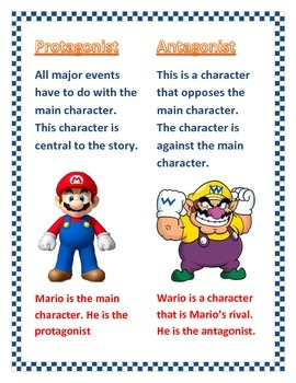 Protangist and Antangist:  Super Mario Example