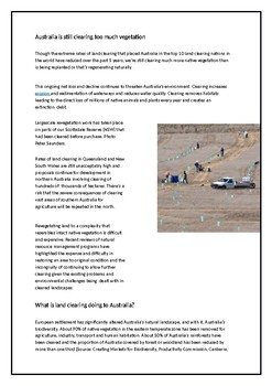 Protecting Biomes - Australian Land Degradation