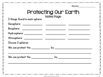 Protecting Our Earth PowerPoint and Notes