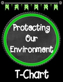 Protecting Our Environment T-Chart Graphic Organizer