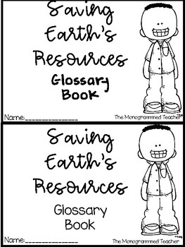 ProtectingEarth's Resources Vocabulary Flipbook