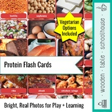 Protein Flash Cards - Vegetarian Included