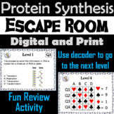 Protein Synthesis Activity: Biology Escape Room Game: Transcription, Translation