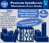 Protein Synthesis Case Study: Transcription, Translation,
