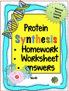 Protein Synthesis Homework Worksheet