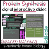 Protein Synthesis Digital Slides for Distance Learning & D