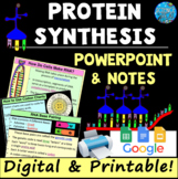 DNA, RNA, & Protein Synthesis PowerPoint with Student Notes and Kahoot!