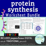 Protein Synthesis Worksheet Bundle