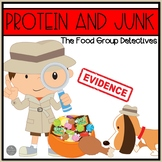 """Protein and """"Sometime"""" Foods Set of Emergent Readers and Sorting Activities"""