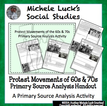 Protest Movements of the 1960s and 70s Primary Source Analysis Activity
