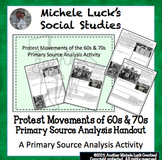 Protest Movements of the 1960s and 70s Primary Source Anal