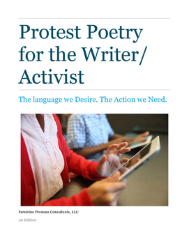 Protest Poetry for Writer Activists