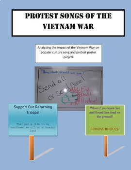Protest Songs of the Vietnam War Analysis and Protest Sign