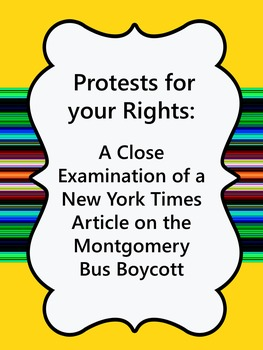 Protest for your Rights: Examine an Article about the Montgomery Bus Boycott