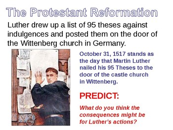 Protestant Reforamtion Lesson