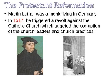 Protestant Reforamtion Lesson