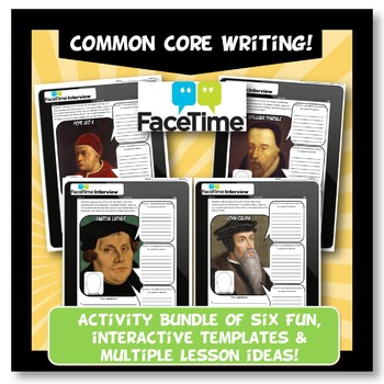 Protestant Reformation Activity FaceTime Interview Worksheet