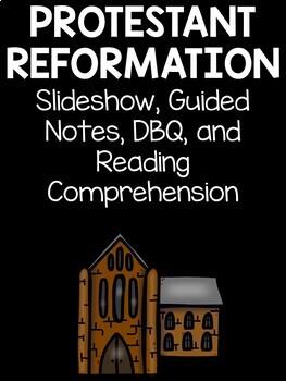 Protestant Reformation Bundle- Slideshow, Guided Notes, Reading Comprehension