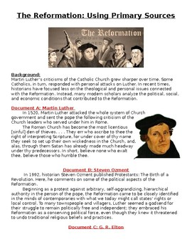 Protestant Reformation DBQ