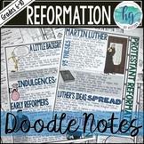 Protestant Reformation Doodle Notes