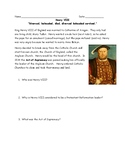 Protestant Reformation Henry VIII Reading and Questions (Easy) with KEY