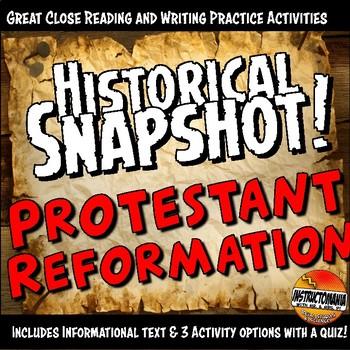 Protestant Reformation Historical Snapshot Close Reading I