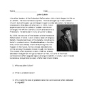 Protestant Reformation John Calvin Reading with Questions