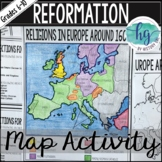 Protestant Reformation Map Activity