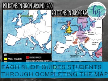 Protestant Reformation Map Activity By History Gal Tpt