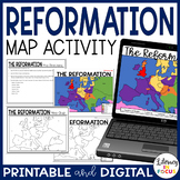 Protestant Reformation Map Activity | Google Classroom | Distance Learning