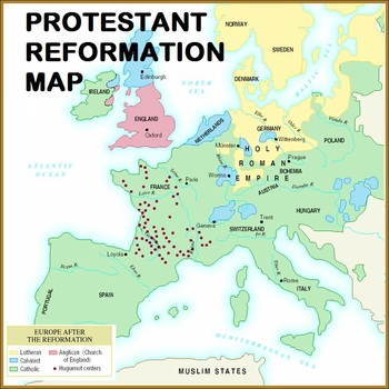 Protestant Reformation Map and Chart