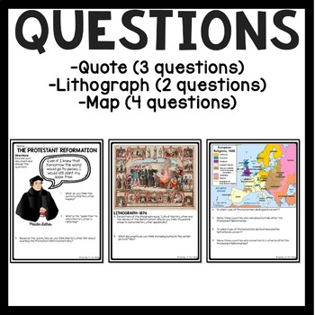 Protestant Reformation Primary Sources, Renaissance, Martin Luther, DBQs