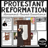 Protestant Reformation Document Based Questions Worksheet DBQ Martin Luther