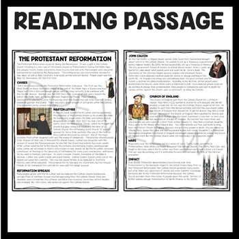 Protestant Reformation, Renaissance, Martin Luther, John Calvin, Henry VIII ?s