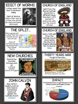 Protestant Reformation Slideshow and Guided Notes; Martin Luther