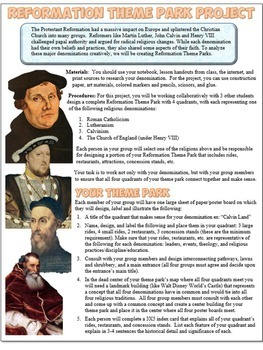 Protestant Reformation Theme Park Project
