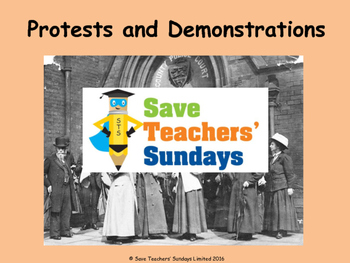 Protesting (the Suffragettes) Lesson plan, PowerPoint and Role play cards
