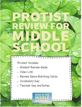 Protist Review for Middle School